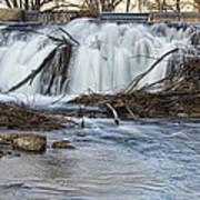 St Vrain River Waterfall Slow Flow Art Print