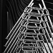 Stacks Of Chairs Art Print