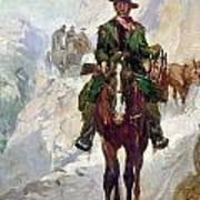 Stagecoach Travel, 1906 Art Print