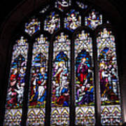 Stained Glass - Bath Abbey Art Print