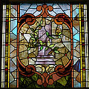 Stained Glass Lc 12 Art Print by Thomas Woolworth