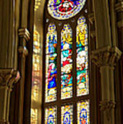 Stained Glass Of St Michaels Basilica Art Print