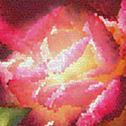 Stained Glass Rose Art Print