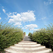 Stairs To The Big Blue Sky Art Print