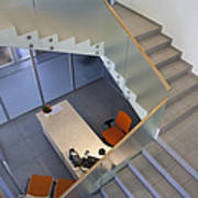 Stairwell In And Office Art Print by Jaak Nilson