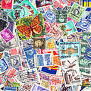 Stamp Collection . 2 To 1 Proportion Art Print