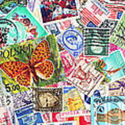 Stamp Collection . 3 To 1 Proportion Art Print by Wingsdomain Art and Photography