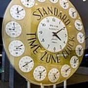 Standard Time Zone Clock. Art Print by Mark Williamson