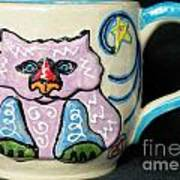 Star Kitty Mug Art Print by Joyce Jackson