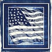 Star Spangled Banner Blue Art Print