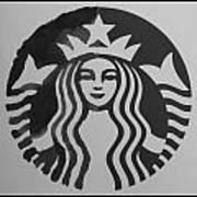 Starbuck The Mermaid In Black And White Art Print
