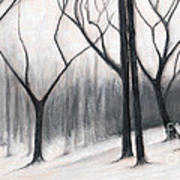 Stark Trees Art Print