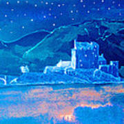 Starry Night Eilean Donan Castle Art Print