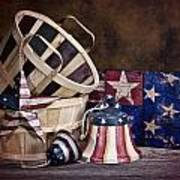 Stars And Stripes Still Life Art Print by Tom Mc Nemar