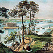 Staten Island And The Narrows, 20th Art Print