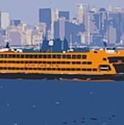 Staten Island Ferry Color 16 Art Print