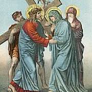Station Iv Jesus Carrying The Cross Meets His Most Afflicted Mother Art Print