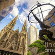 Statue And Spires Art Print