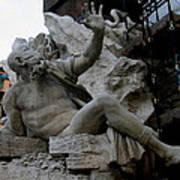 Statue At Piazza Art Print by Suhas Tavkar