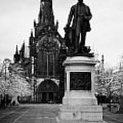 Statue Of David Livingstone Outside Glasgow Cathedral Scotland Uk Print by Joe Fox