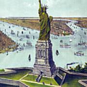 Statue Of Liberty. The Great Bartholdi Art Print by Everett