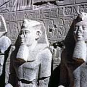 Statues Of Ramses II Art Print by Granger