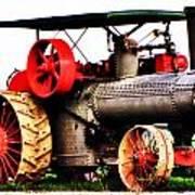 Steam Engine Tractor  Art Print