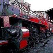 Steam Punk Railroad Art Print