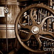 Steam Wheel Art Print