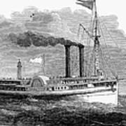 Steamboat, 1850 Art Print