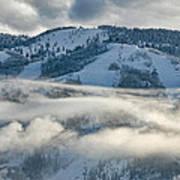 Steamboat Ski Area In Clouds Art Print