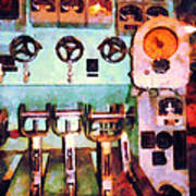 Steampunk - Electrical Control Room Art Print