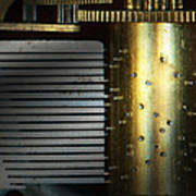 Steampunk - Gears - Music Machine Art Print