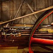 Steampunk - Machine - The Wheel Works Art Print