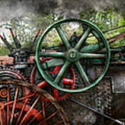 Steampunk - Machine - Transportation Of The Future Print by Mike Savad