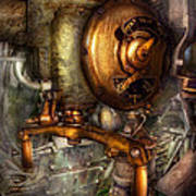 Steampunk - Naval - Shut The Valve  Art Print