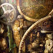 Steampunk - Naval - Watch The Depth Art Print by Mike Savad