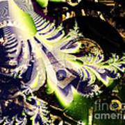 Steampunk Abstract Fractal . S2 Art Print
