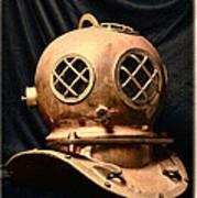 Steampunk - Diving - Diving Helmet Art Print