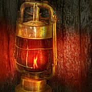 Steampunk - Red Light District Art Print