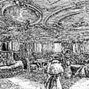 Steamship Salon, C1890 Art Print by Granger