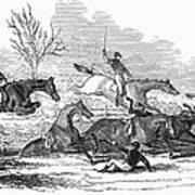 Steeplechase, 1845 Art Print