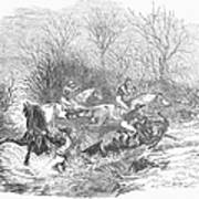 Steeplechase, 1847 Art Print