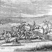 Steeplechase, 1863 Art Print