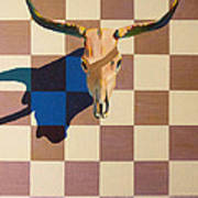 Steer Head Art Print