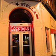Stella Cocktail Bar At Night Art Print