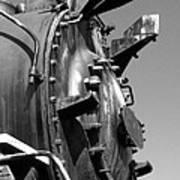 Steme Engine Front Black And White Art Print