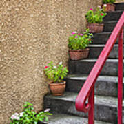 Steps In Kagurazaka Tokyo Japan Art Print