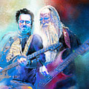 Steve Lukather And Leland Sklar From Toto 02 Art Print