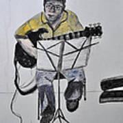 Steve's Guitar Art Print